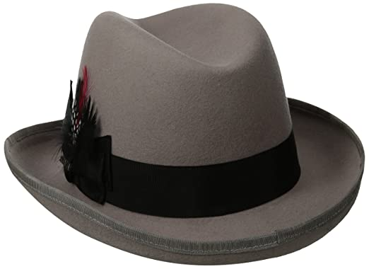 80bef2c5b3638b Image Unavailable. Image not available for. Color: SCALA Classico Men's Wool  Felt Homburg Hat ...