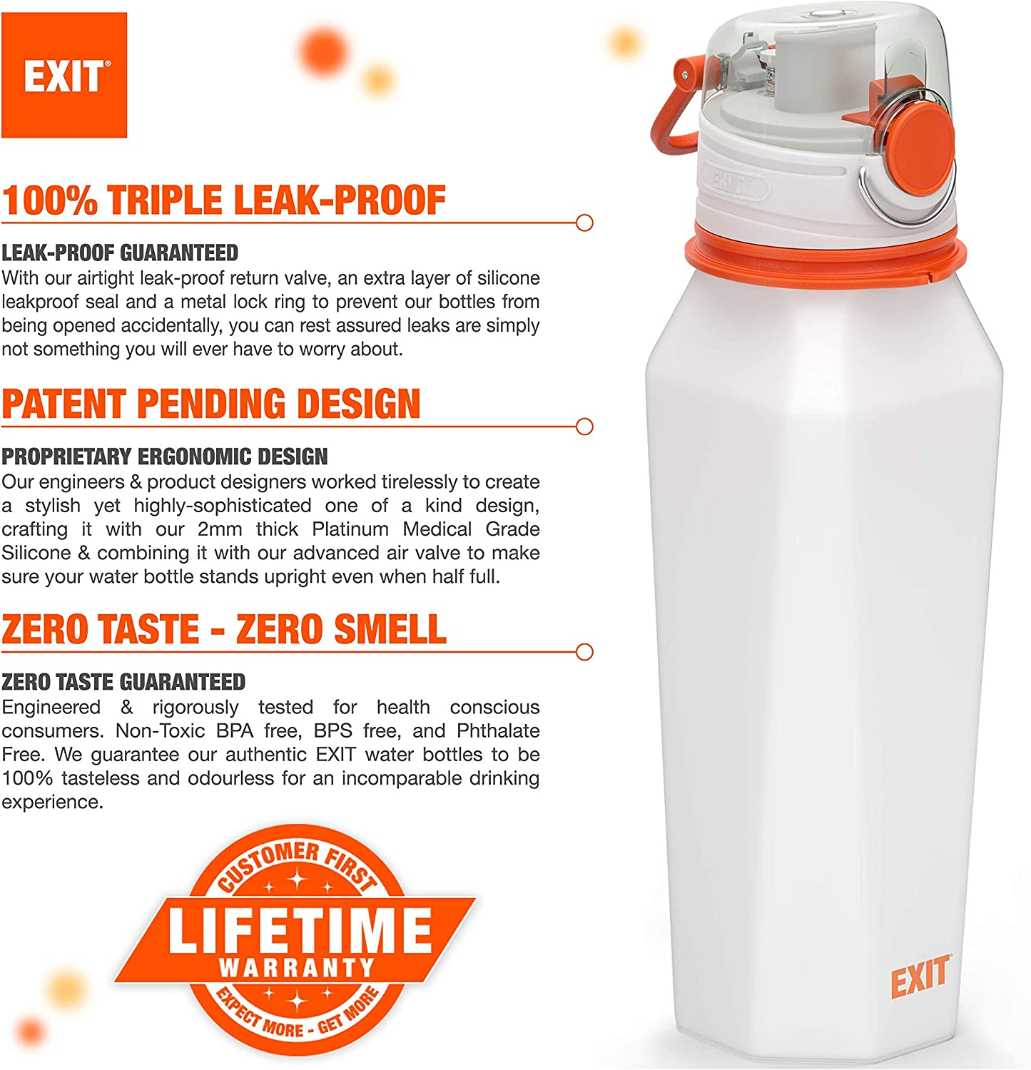 Details about  /Travel Water Drinking Cup Leak Proof Spray Bottle with Folding Table Bbq U3Y7