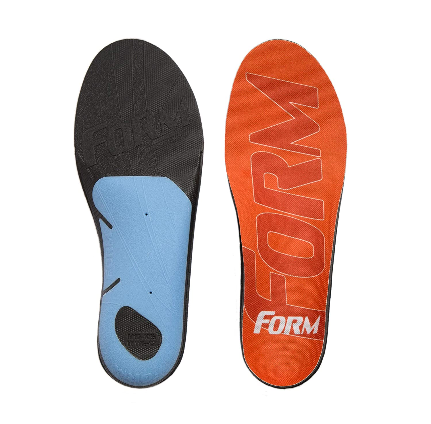 82f2f0cd75 Amazon.com: FORM Premium Insoles for Men and Women Reinforced with  EnduraHeel: Shoes