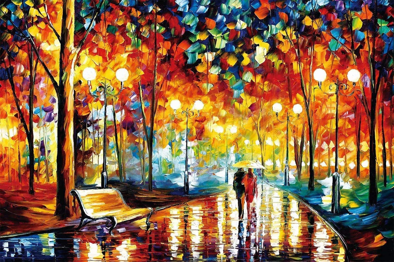 27.5inch X19.7 inch Romantic Street Jigsaw Puzzle 1000 Pieces Puzzle for Kids and Adult