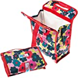 PackIt Freezable Lunch Bag with Velcro Closure, Red Floral