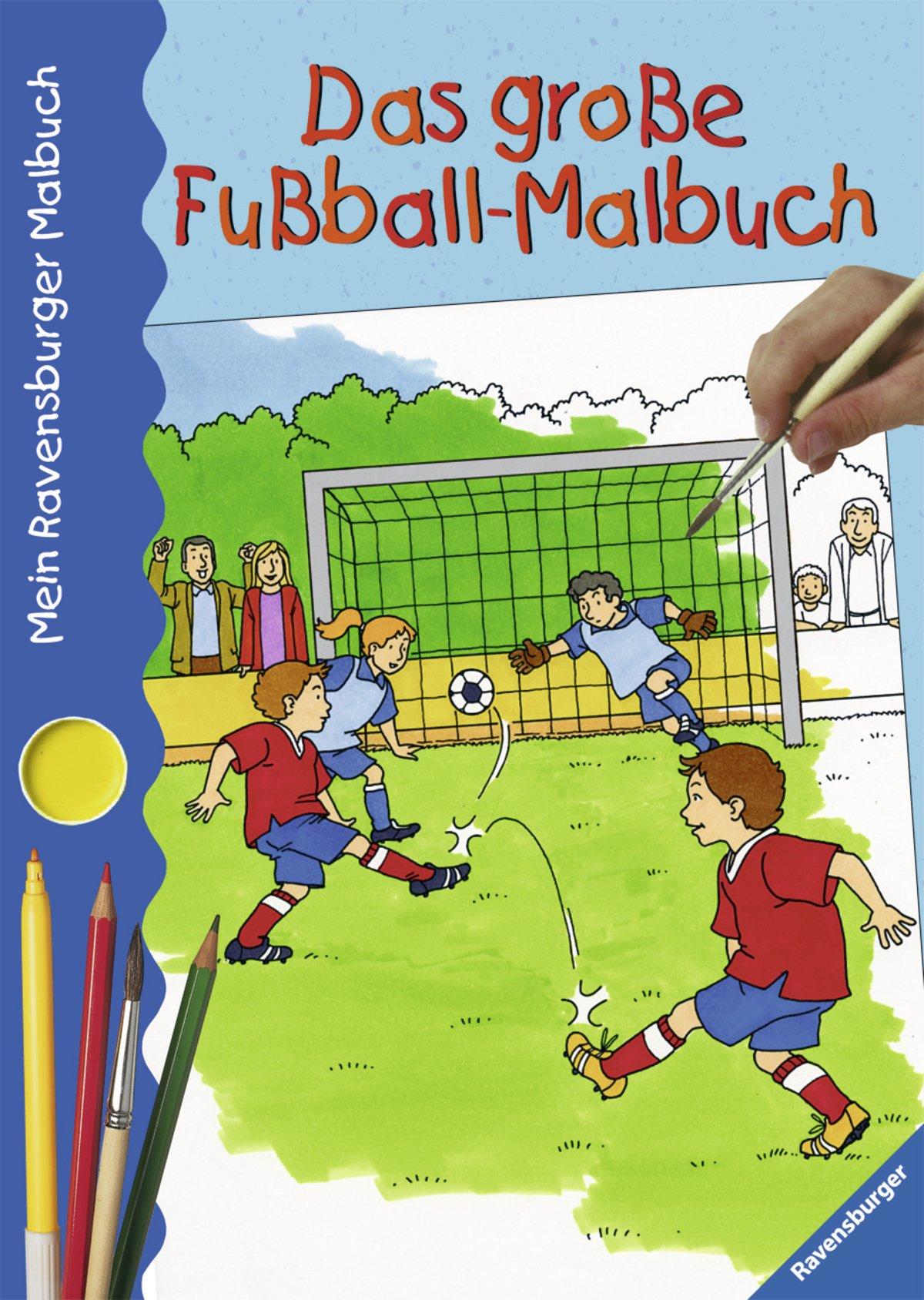 Mein Ravensburger Malbuch: Das große Fußball-Malbuch: Amazon.de: Bücher