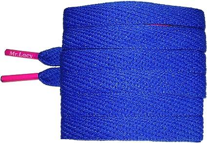 Laces Flat Black Mr Lacy Flatties high quality shoelaces 130 cm long,10 mm wide