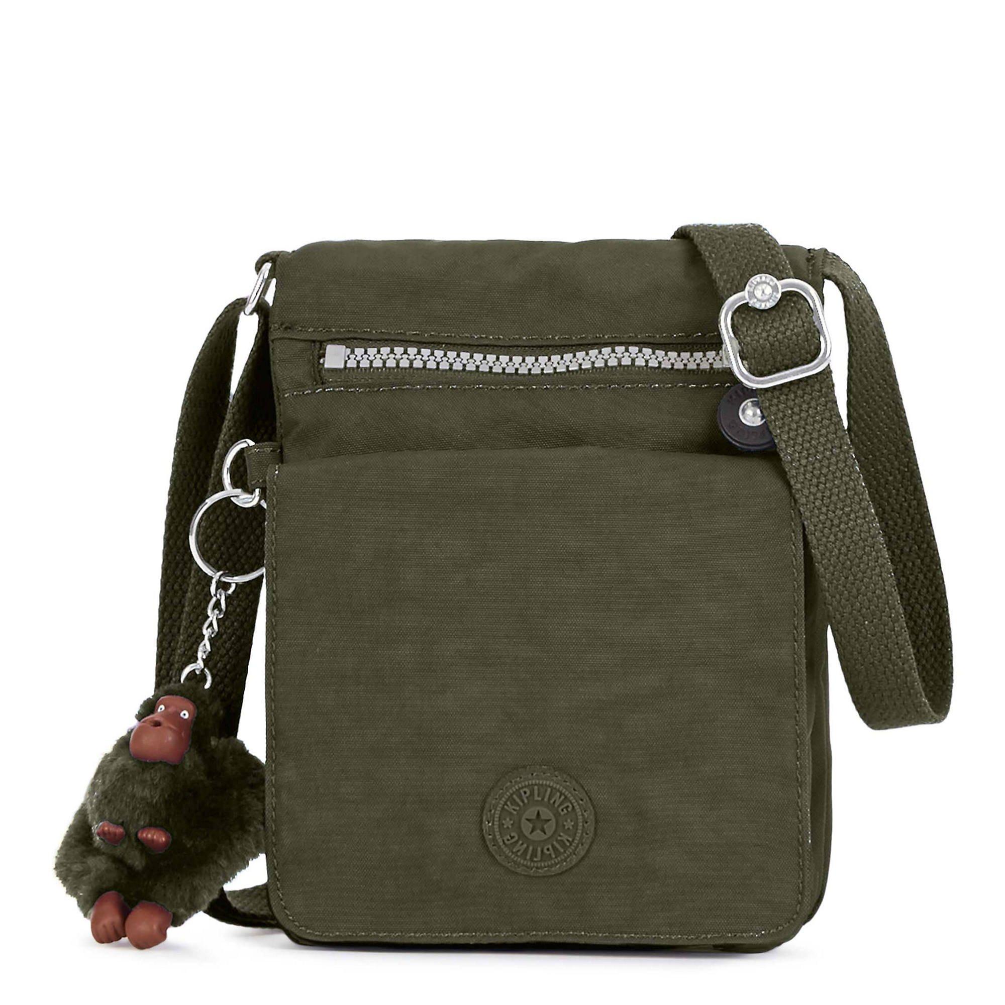 Kipling El Dorado Crossbody Bag, Essential Travel Accessory, Jaded Green