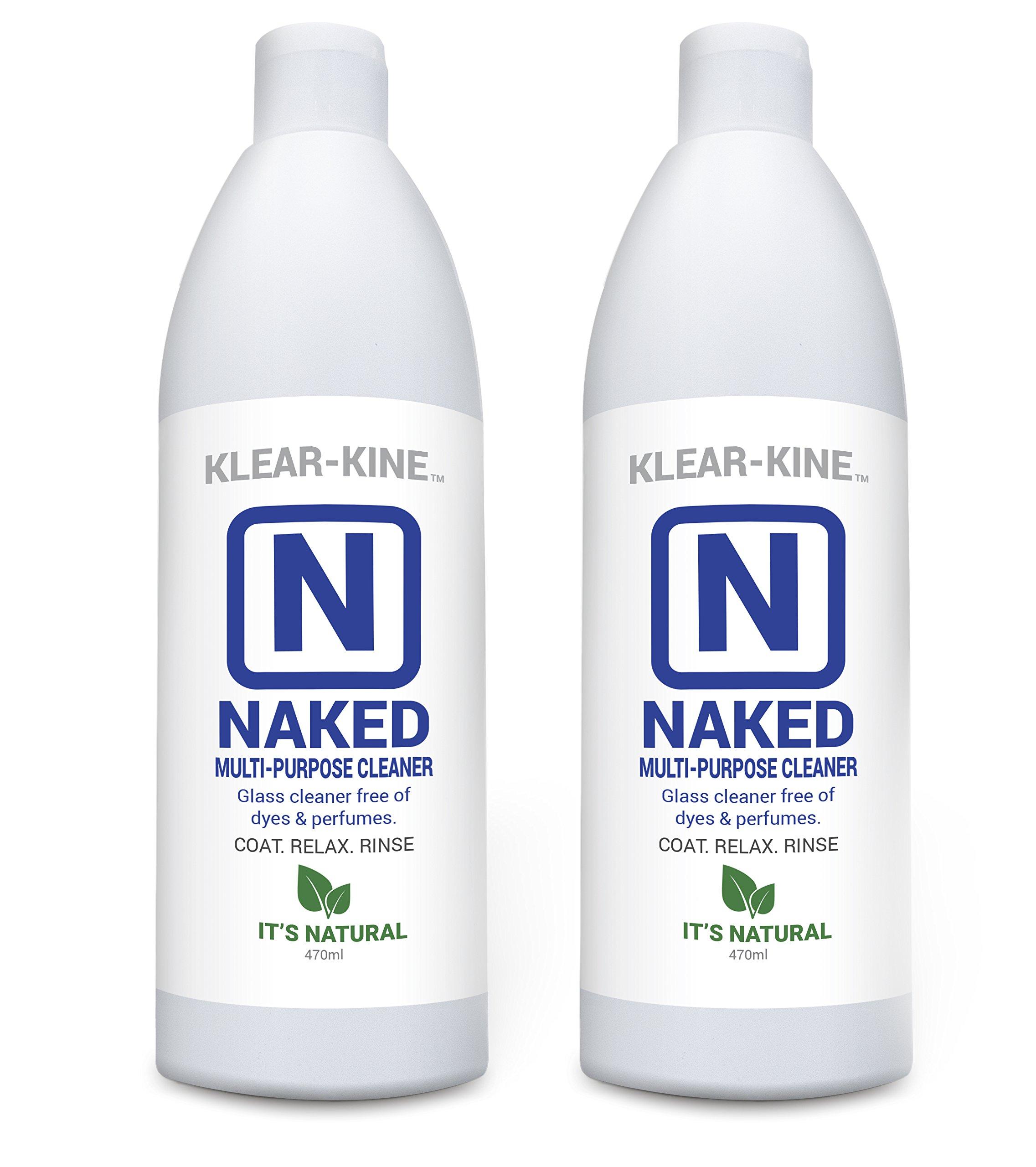 KLEAR-KINE Naked Glass Cleaner | Clay Based Formula | 420 & 710 Remover | 470ml Bottle | 2 Pack