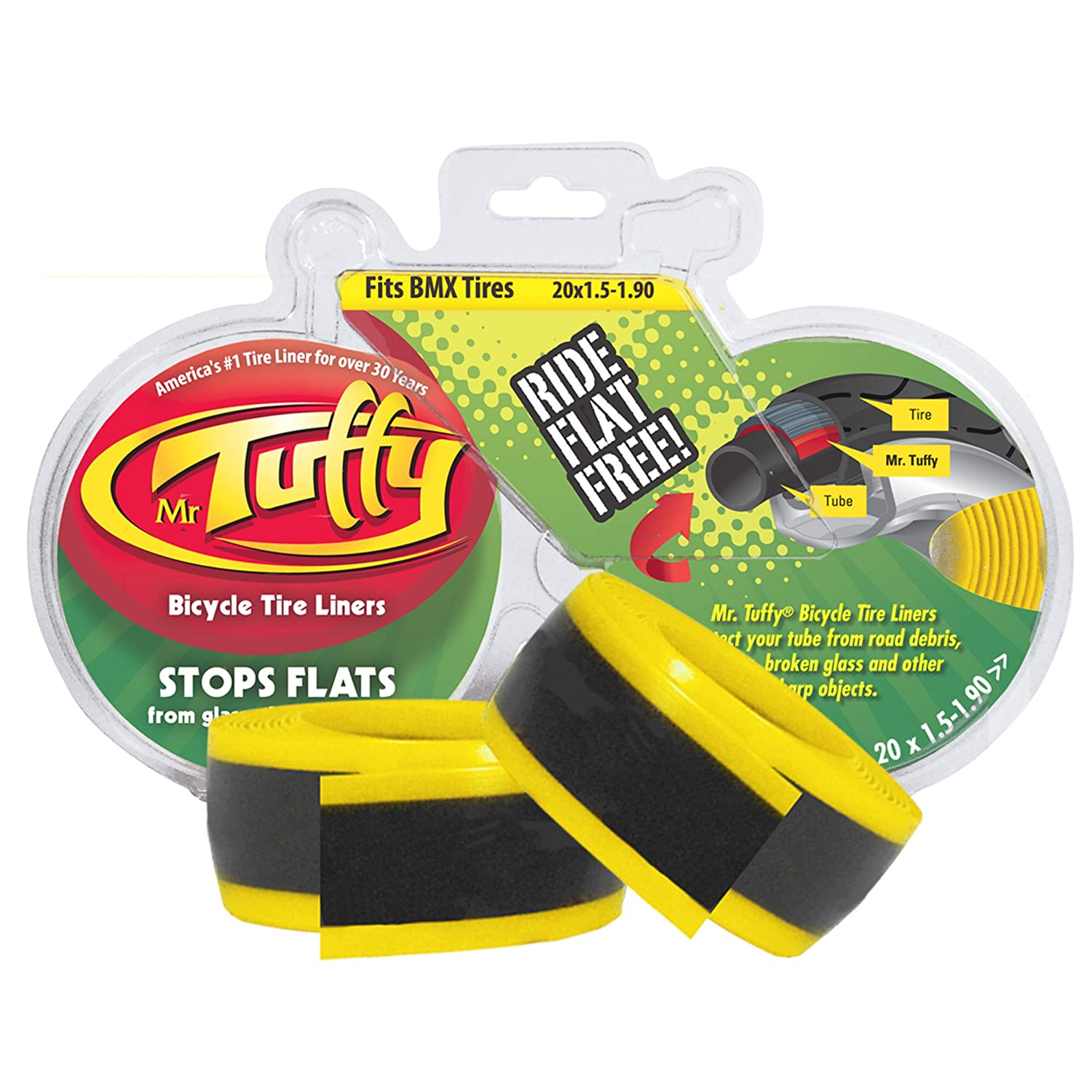 tuffy bicycle tire liner yellow     ebay