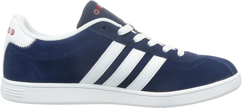 Adidas NEO VLCOURT Herren Sneakers Blau Bleu Collegiate Navy Ftwr White Power Red
