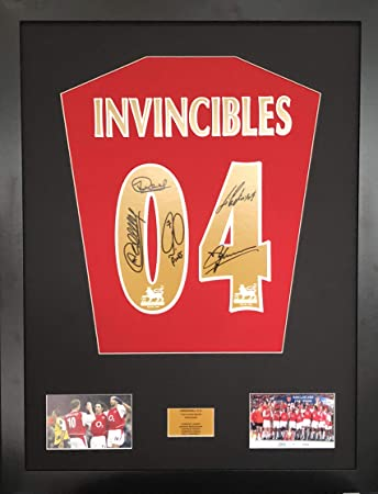 aad96ee5709 Image Unavailable. Image not available for. Colour  FMS Invincibles Arsenal  Signed Shirt Display With COA