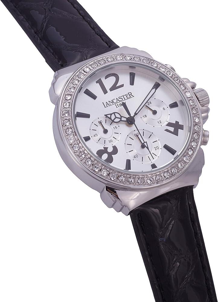 Lancaster 0633LZSSBNNR - Reloj de Señora Cuarzo Piel Negro: Amazon.es: Relojes