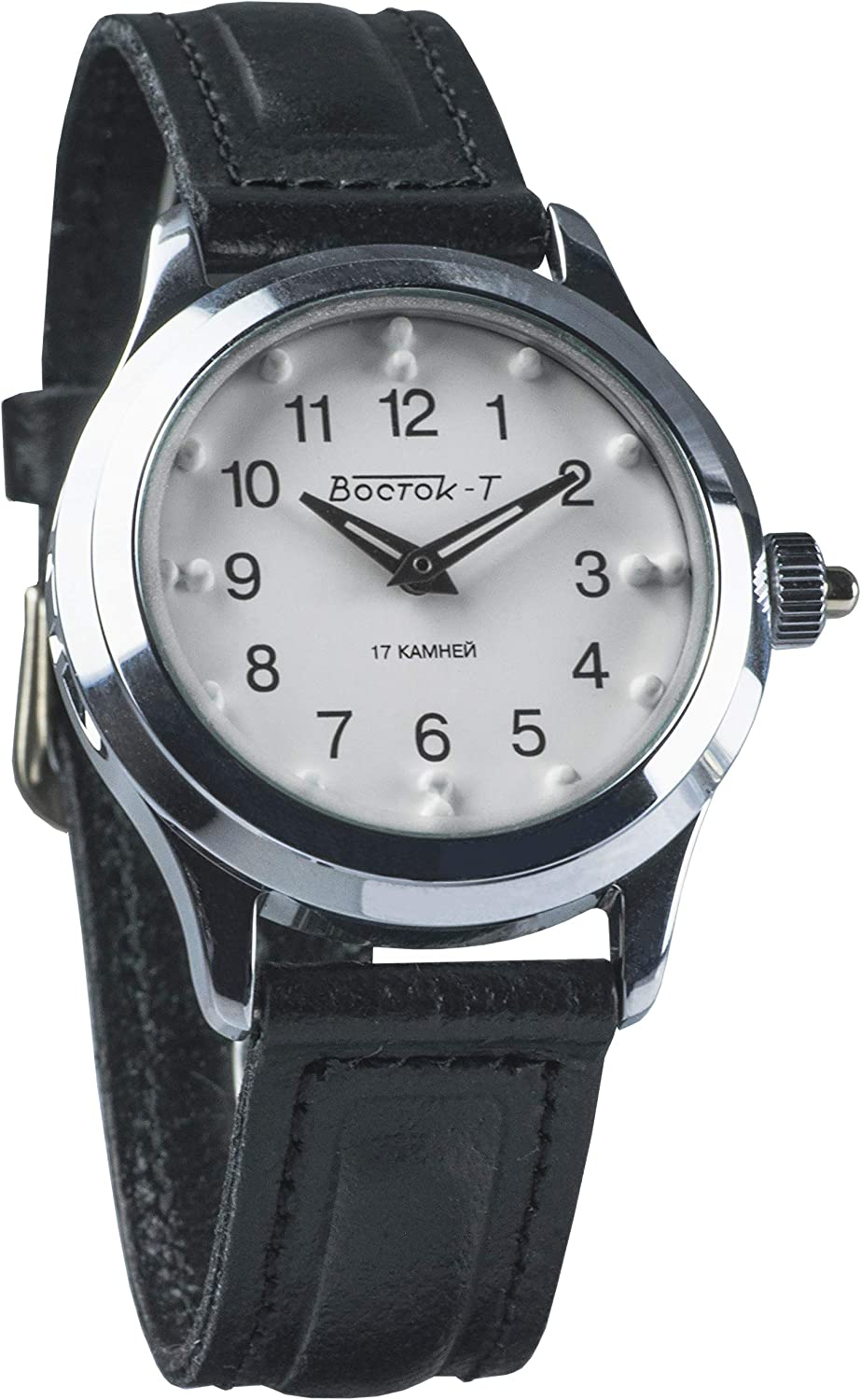 Vostok KOMANDIRSKIE Braille Russian Mechanical Wrist Watch for The Visually Impaired 491210