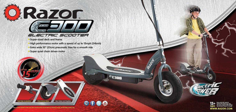 Amazon.com : Razor E300 Electric Scooter - Matte Gray : Electric