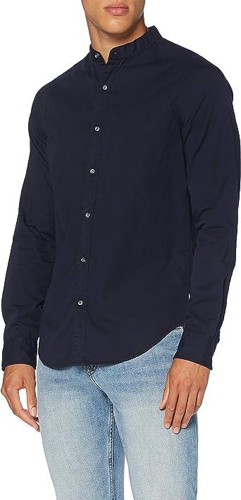 Superdry LS Classic Twill Lite Grandad Camisa para Hombre: Amazon.es: Ropa y accesorios