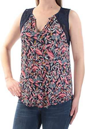 Lucky Brand Womens Floral Printed Tank Top
