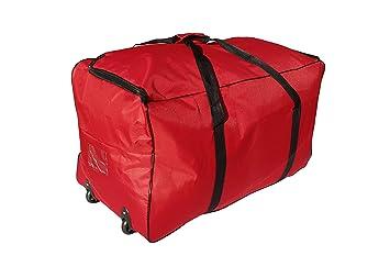 Bolsa de Viaje Deportes Maleta Trolley Grande 140L con Ruedas. Talla XXL (Rojo): Amazon.es: Deportes y aire libre