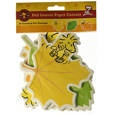 "Eureka Peanuts Fall Leaves Paper 5"" Tall Cut Out, Set of 36: Toys & Games"