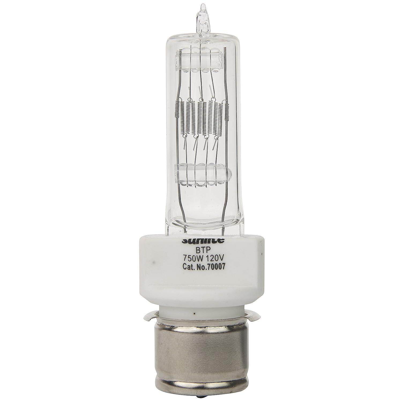 Sunlite BTP 750W T7 120V P28s 750 watt 120 volt Medium Prefocus Based Stage and Studio T7 Bulb Clear