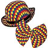 Clown Bowler Hat   Bow Tie for Adults Circus Clown Fancy Dress Costume    Accessory 1e4293897d9d