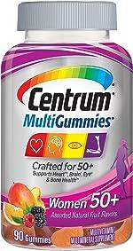 Centrum MultiGummies Gummy Multivitamin for Women 50 Plus, with Vitamin D3,