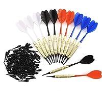 12/21 pcs Flechettes Pointe Molle Safety Dart Arrows+ 100pcs Replacement Soft Combo