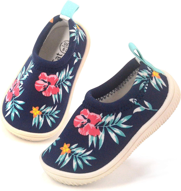Dream Bridge Kids Toddler House Shoes Anti-Slip Slipper Socks Slip On Barefoot Indoor Slippers for Boys Girls