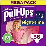 Huggies Pull-Ups Night Time Potty Training Pants for Girls, Medium, 56 Pants