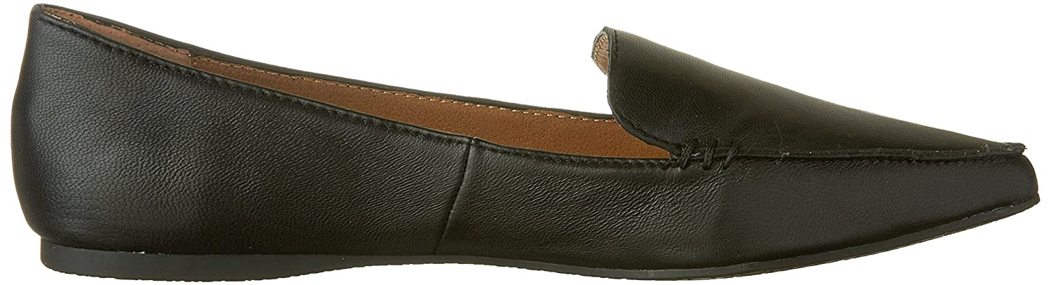 Steve Madden Women's Feather Loafer Flat B01FKWHR80 10 M US|Black Leather