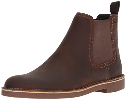 CLARKS Men's Bushacre Hill Chelsea Boot, Beeswax Leather, 11 M US best men's dress boots