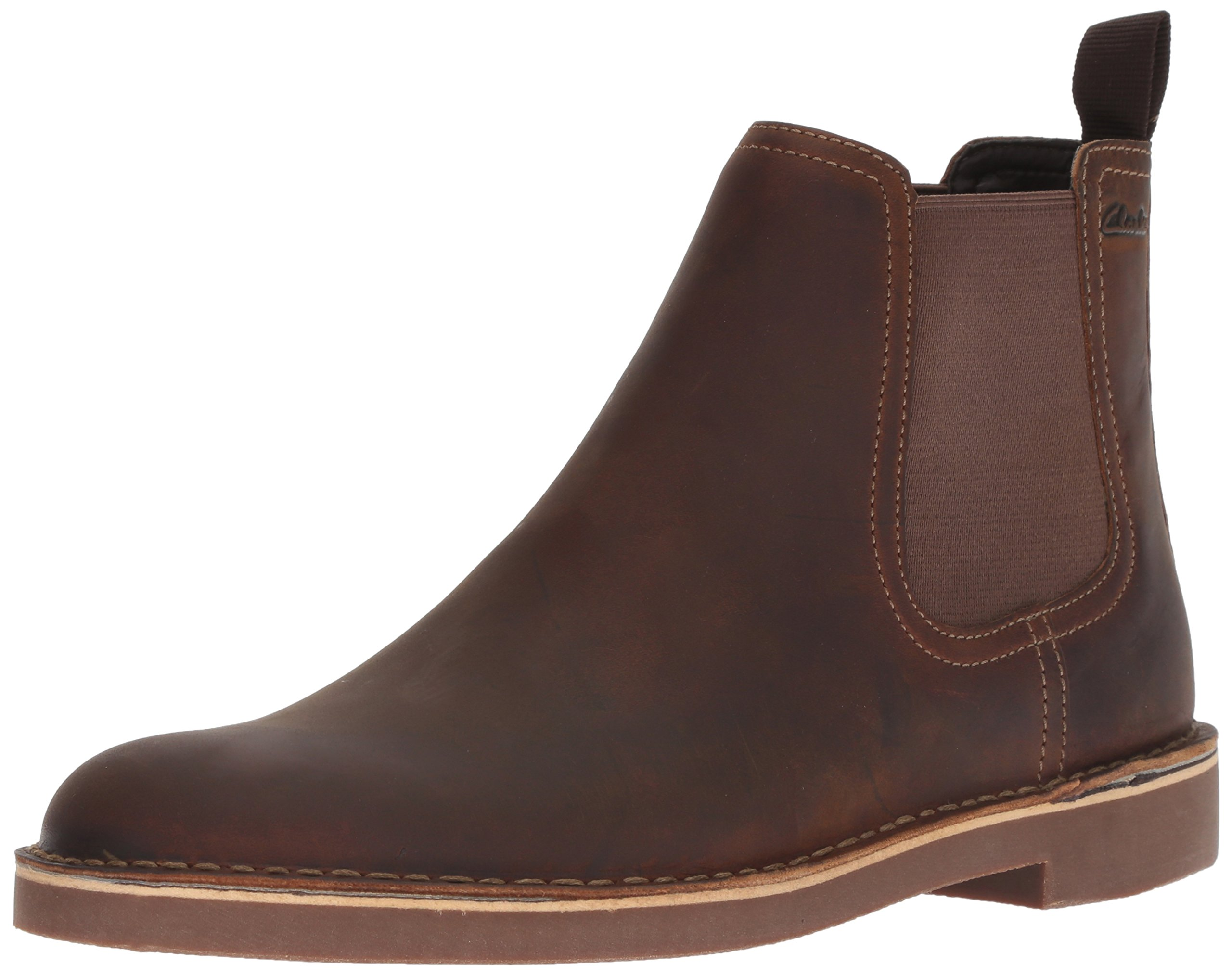 CLARKS Men's Bushacre Hill Chelsea Boot, Beeswax Leather, 11.5 M US