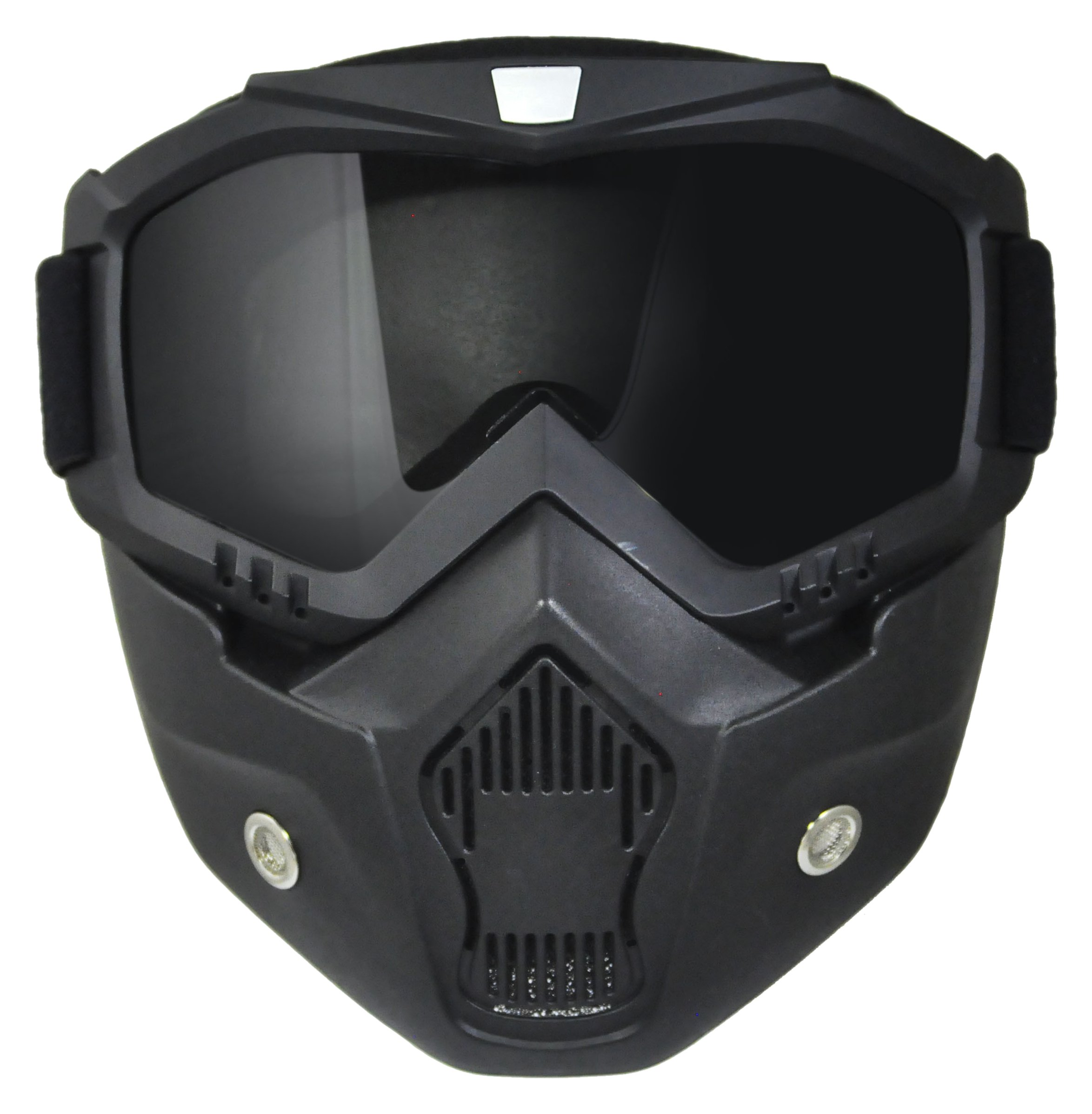 TORC Unisex-Adult Goggle Mask (Black, One Size) (for Open Face and Half Face Helmet)