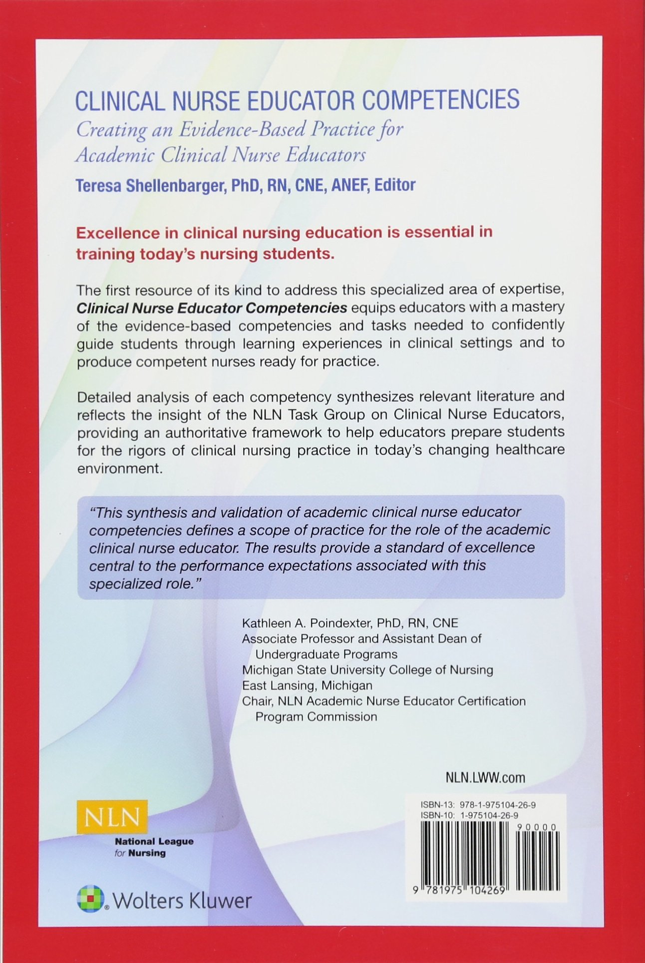 Buy Clinical Nurse Educator Competencies Creating An Evidence Based