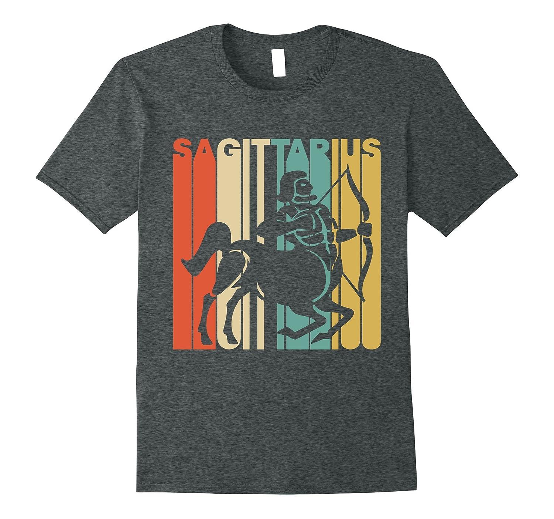 Vintage Style Sagittarius Silhouette Zodiac T-Shirt