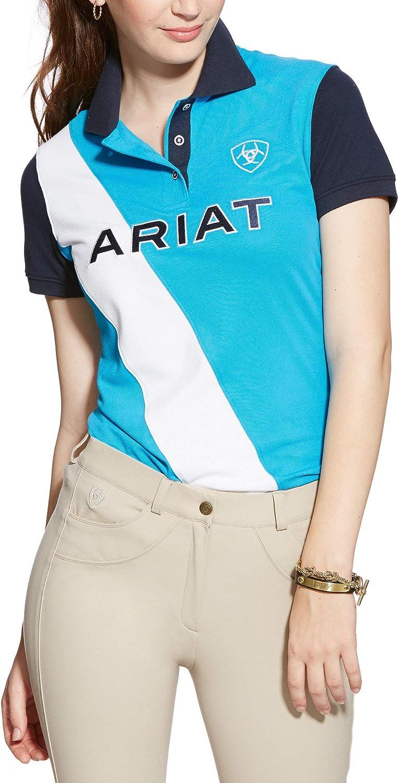 ARIAT Womens Taryn Polo Indigo Fade Easy Stretch
