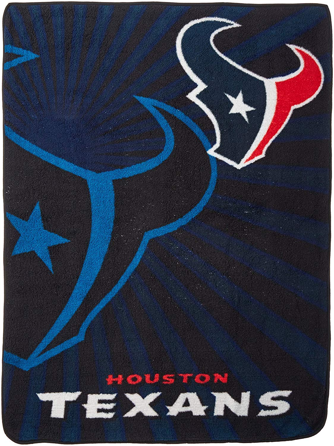 Officially Licensed NFL Strobe Sherpa on Sherpa Throw Blanket Multi Color 50 x 60
