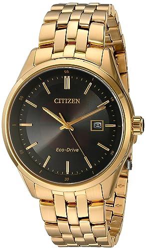 931f0d4da1ad Citizen Reloj de hombre cuarzo 41mm correa de acero dorado BM7252-51E   Amazon.es  Relojes
