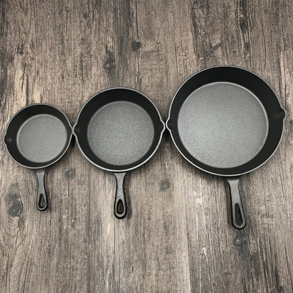 20 cm Fonte Po/êle /à steak 16//20//25 cm en fonte anti-adh/ésive Diff/érentes tailles Barbecue Porc