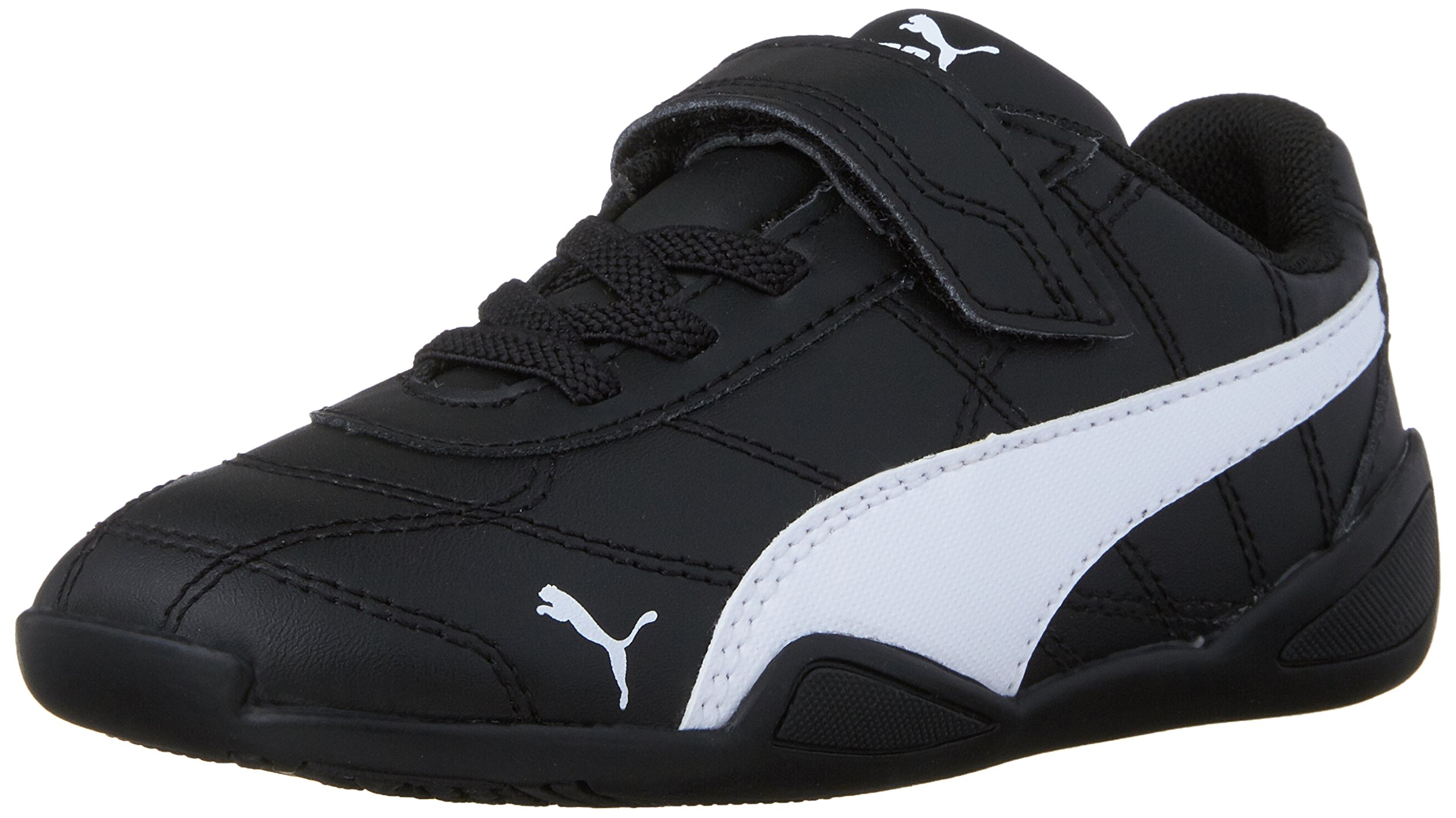 PUMA Boys' Tune CAT 3 V INF Sneaker Black White, 8 M US Toddler by PUMA