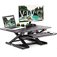 Vivo Height-Adjustable 2-Tier Standing Tabletop Desk