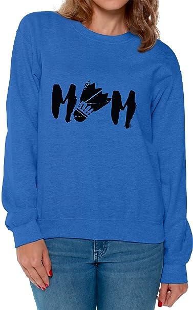 31e88f2114 Awkward Styles Women s Badminton MOM Graphic Sweatshirt Tops Black Badminton  Bird Blue S