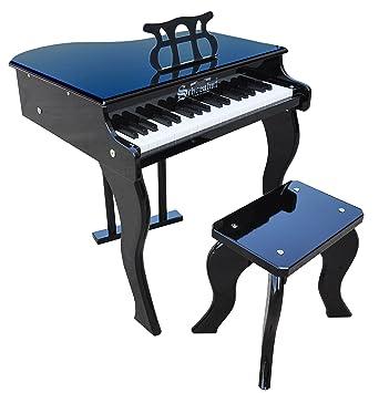 Keys Grandpa Toy Piano  >> Schoenhut 37 Key Elite Baby Grand Piano Black Amazon Co Uk