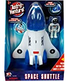 Astro Venture Space Shuttle Toy - Plastic White Spaceship for Kids with Lights and Sound - Astronaut Figure, Openable…