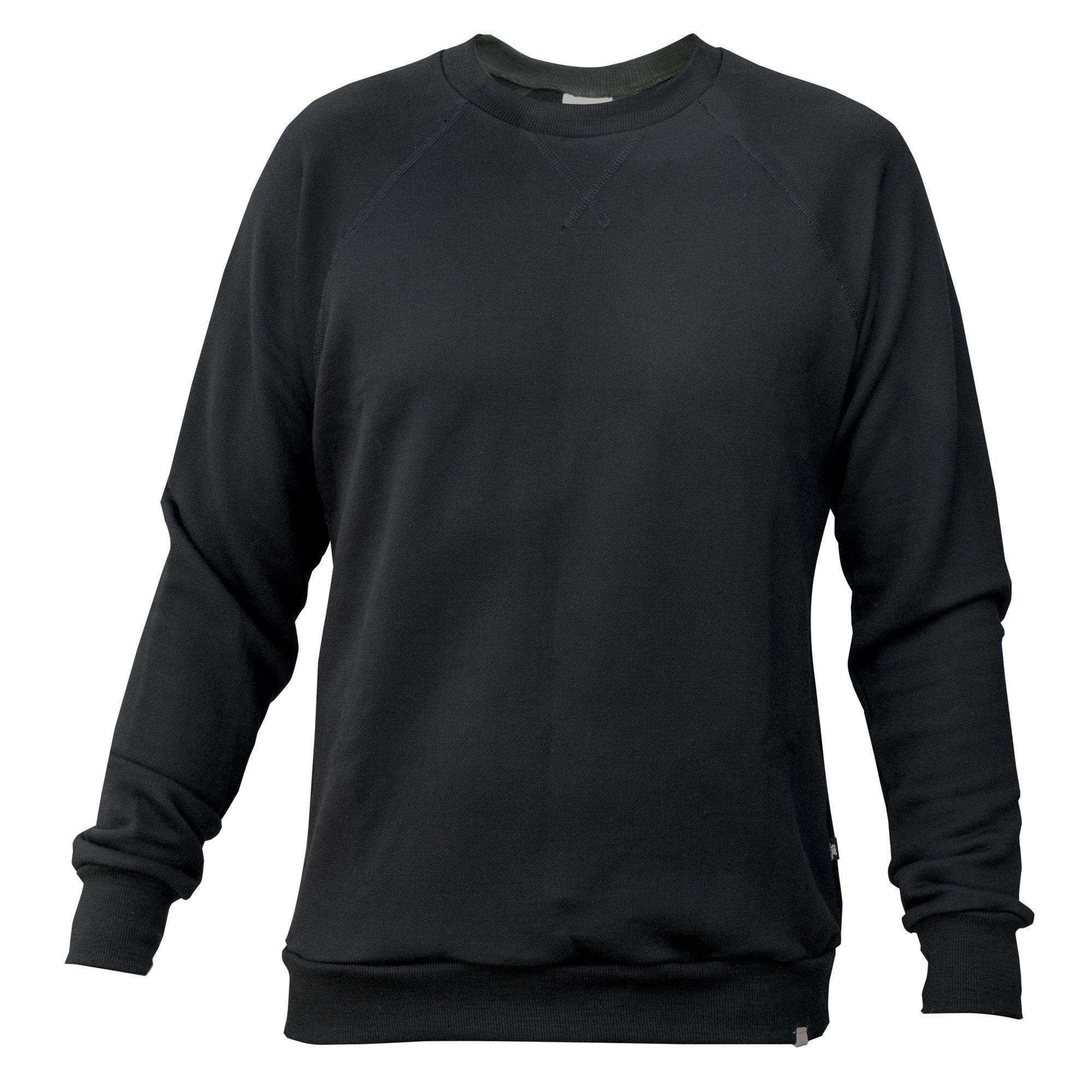 Merino 365, Crew Sweatshirt, 280 gsm, 100% NZ Merino, Medium, Black