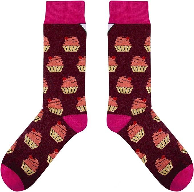 Perfekt als Geschenk f/ür M/änner und Frauen CUP OF SOX Damen Herren Lustige Bunte Halloween Socken mit Schwarze Rabe in der Pappbecher
