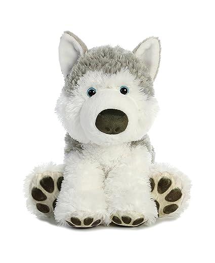 Amazon Com Aurora World Husky Plush Dog Gray White Medium Toys
