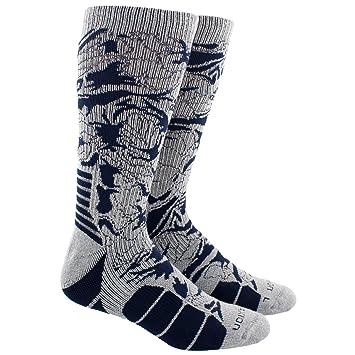 Adidas Unisex Traxion Impacto Baloncesto/fútbol tripulación calcetín - 975760, Gris, Azul Marino, (Heather Grey Marl/Collegiate Navy): Amazon.es: Deportes y ...