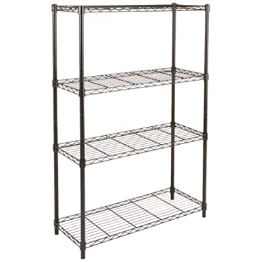 AmazonBasics 4-Shelf Shelving Unit - Black