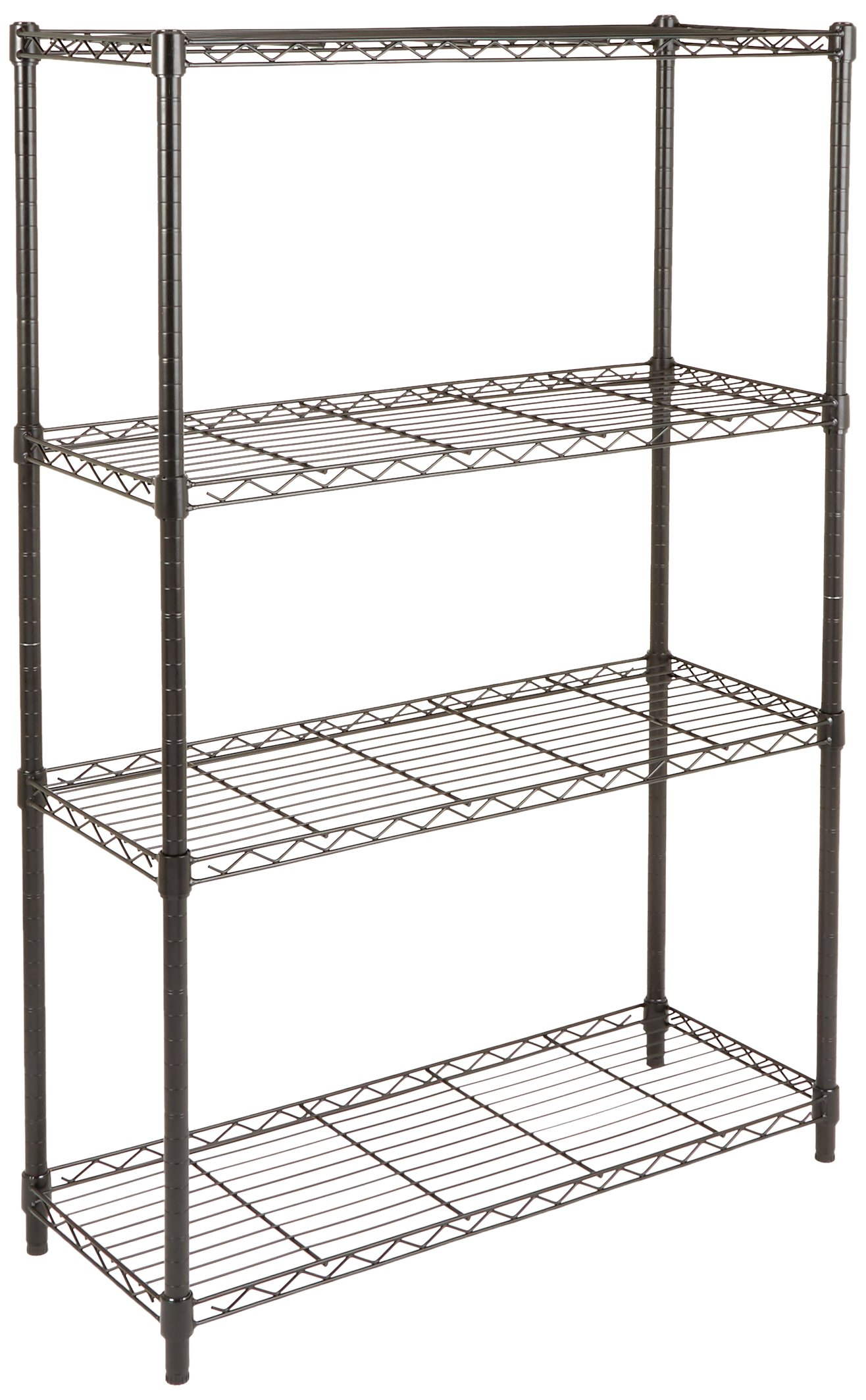 AmazonBasics 4-Shelf Shelving Unit - Black by AmazonBasics