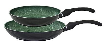 KOPF Emerald Set de sartenes, 2 piezas, fundición de aluminio, apta para inducción