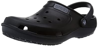 Crocs Unisex Duet Wave Black and Charcoal Rubber Clogs and Mules - M7W9