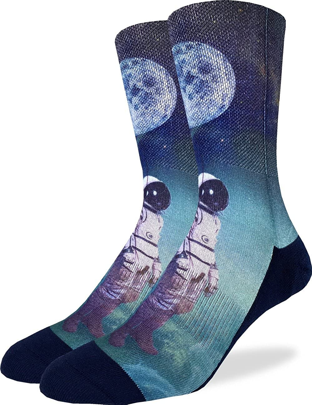 Good Luck Sock Men's Astronaut with Balloon Crew Socks - Adult Shoe Size 8-13 4103