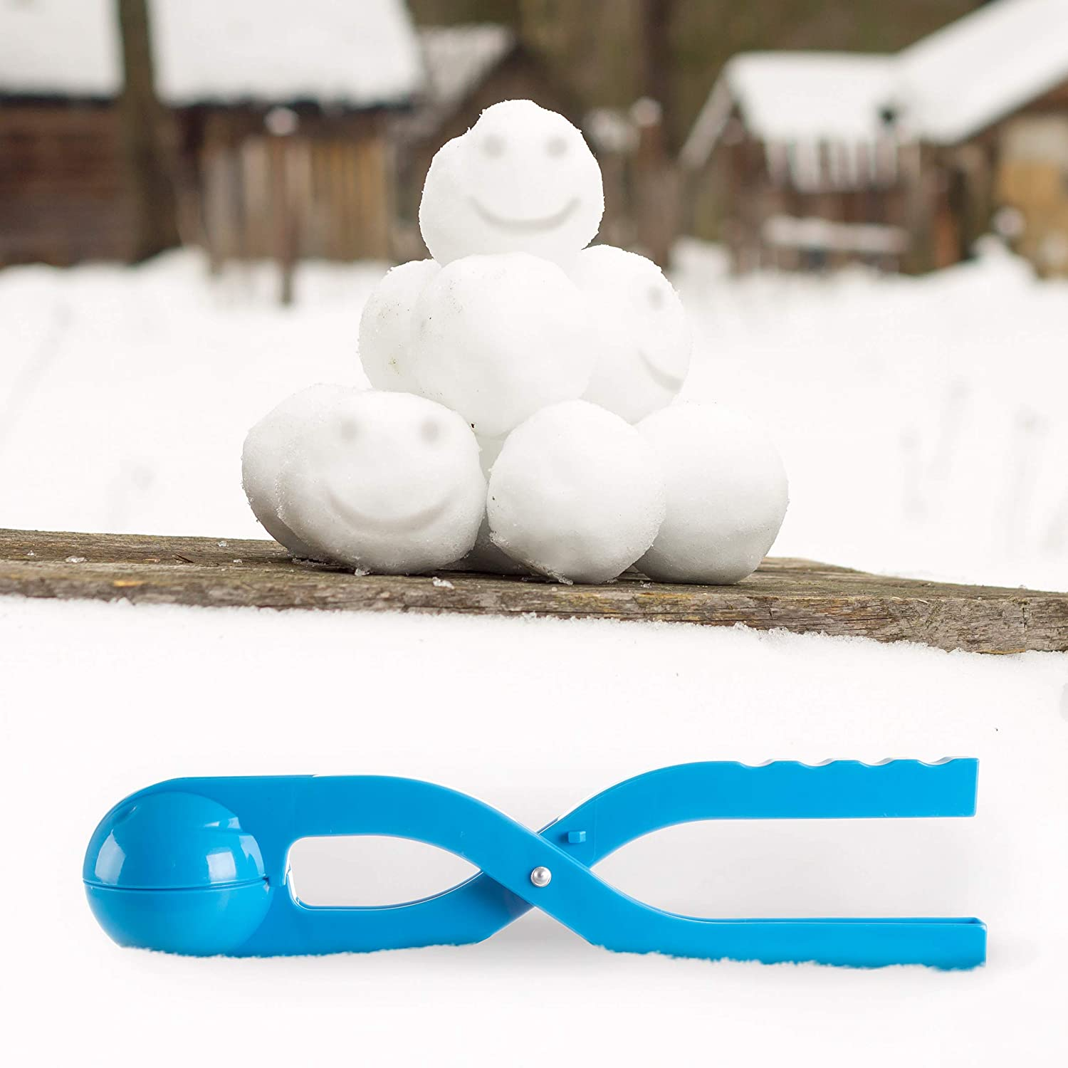 Snowball Maker Tool with Handle for Snow Ball Fights For Kids and Adults Play Hey Fun Winter Outdoor Activities and More Set of 2